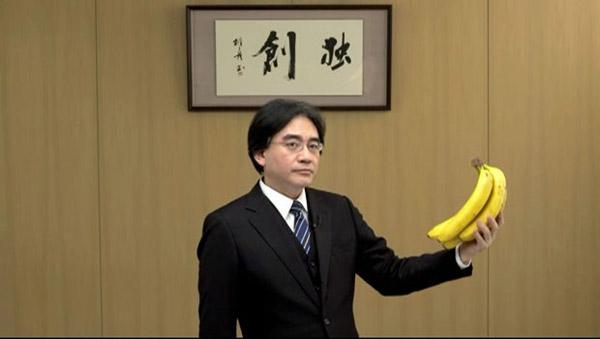 Iwata with bananas