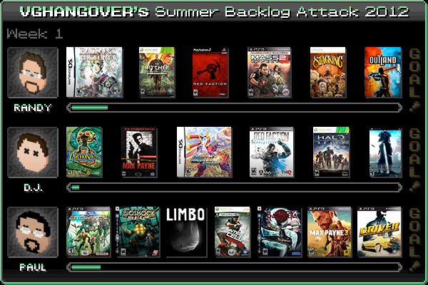 Summer Backlog Attack 2012, Week 1