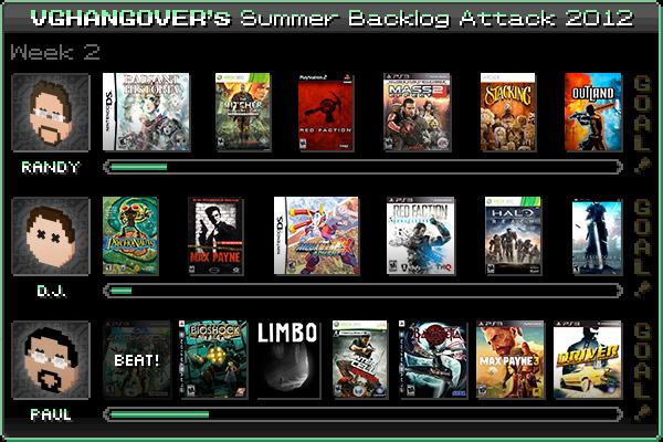 Summer Backlog Attack 2012, Week 2