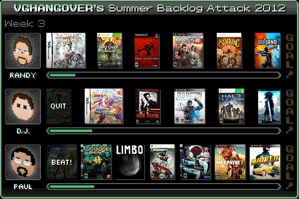Summer Backlog Attack 2012, Week 3