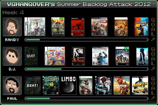 Summer Backlog Attack 2012, Week 4