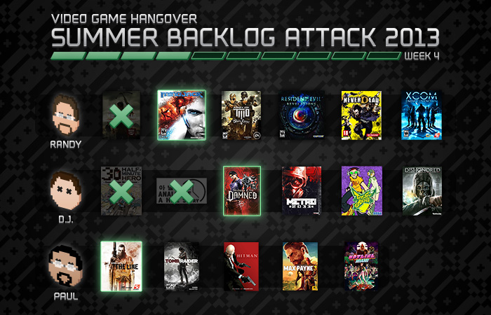 Summer Backlog Attack 2013: Week 4
