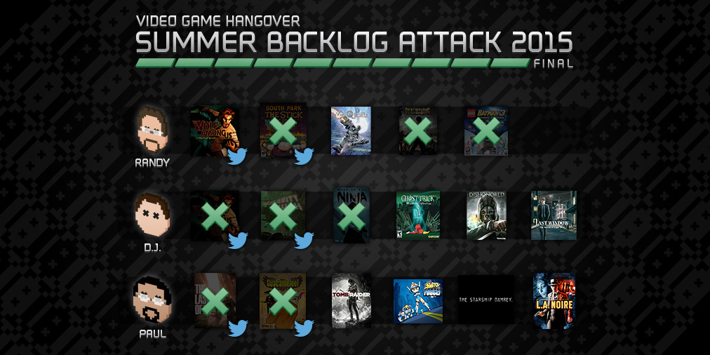 Backlog Attack 2015: Week 10